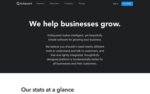 Screenshot of About Page gosquared.com - About – GoSquared - captured May 1, 2018