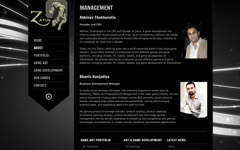 Screenshot of Team Page zatun.com - Zatun Management - Executive Producer in the Video Game Industry | Zatun - captured Sept. 23, 2018