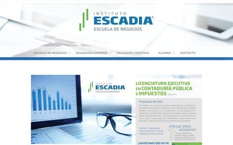 Licenciatura en Contaduría Pública e Impuestos –  Escadia