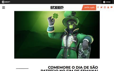 Screenshot of Press Page ubisoft.com - Comemore o Dia de São Patrício no fim de semana! | Steep - Disponível agora para PS4, Xbox One & PC | Ubisoft (BR) - captured Nov. 8, 2019