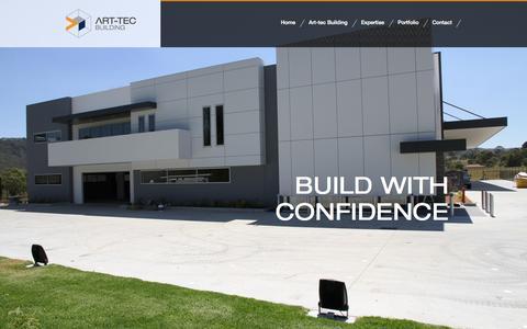 Screenshot of Home Page art-tec.com.au - Art-Tec | Build with confidence - captured Oct. 4, 2014