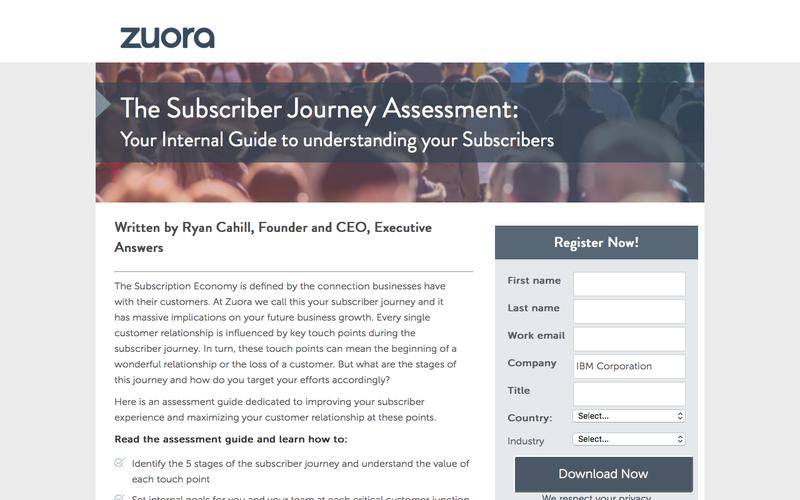 The Subscriber Journey Assessment | Zuora