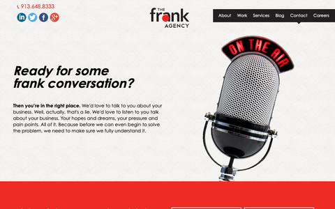 Screenshot of Contact Page thefrankagency.com - Contact Us | The frank Agency - captured Oct. 20, 2018