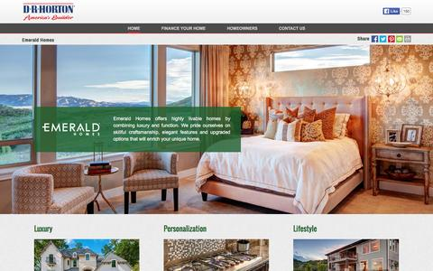 Screenshot of drhorton.com - Emerald Homes | Luxurious Homes with a Personalized Touch - captured Feb. 18, 2016