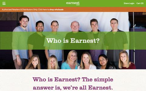 Screenshot of About Page earnesteats.com - About • Earnest Eats - captured Nov. 4, 2018