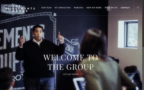 Screenshot of Contact Page elementsgroup.us - Contact TEG    The Elements Group - captured Oct. 18, 2018