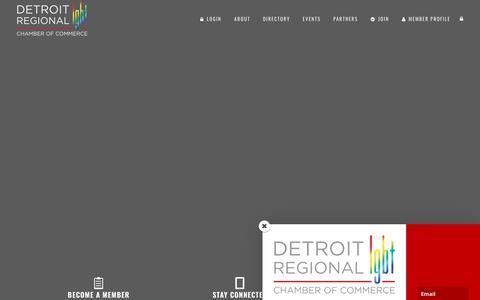 Screenshot of Home Page detroitlgbtchamber.com - Detroit Regional LGBT Chamber of Commerce | - captured Oct. 8, 2018