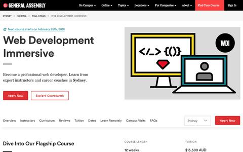Become a Web Developer in Sydney - Web Development Course | General Assembly