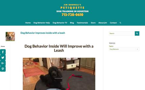 Screenshot of Press Page petiquettedog.com - Dog Behavior Training in Houston - captured Sept. 22, 2018