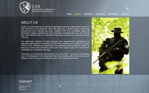 Screenshot of About Page csb-slovenia.com - csb-association   ABOUT - captured July 9, 2017