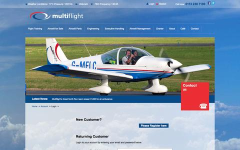 Screenshot of Login Page multiflight.com - Multiflight - captured Oct. 10, 2014