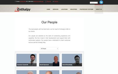 Screenshot of Team Page enthalpy.com.au - Project Management Australia: Enthalpy - captured May 19, 2017