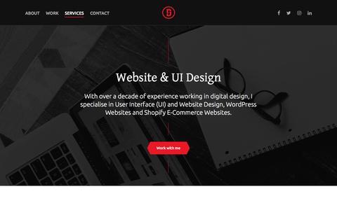 Screenshot of Services Page designsuper.co - Website & UI Design Brighton | Design Superheroes - captured Nov. 24, 2016