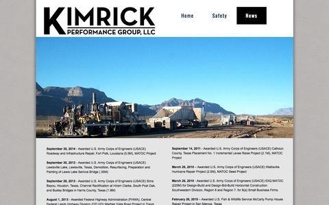 Screenshot of Press Page kimrickpg.com - Kimrick News - captured Oct. 27, 2014