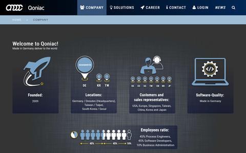 Screenshot of Team Page qoniac.com - Qoniac: About us - captured July 3, 2016