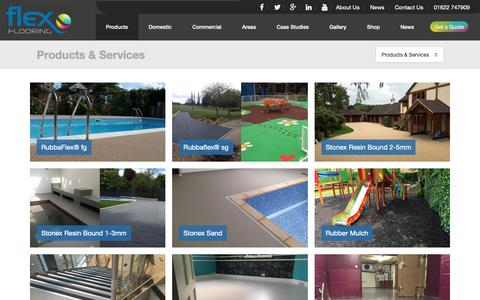 Screenshot of Products Page flexflooring.co.uk - Epoxy Resin Flooring Products - UK Experts - Fast, High Quality installation - captured Oct. 10, 2018