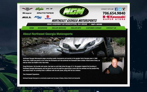 Screenshot of About Page ngmrides.com - Dealership Information | Northeast Georgia Motorsports | Hoschton - captured Oct. 26, 2014
