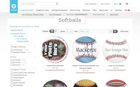 Softballs | Zazzle