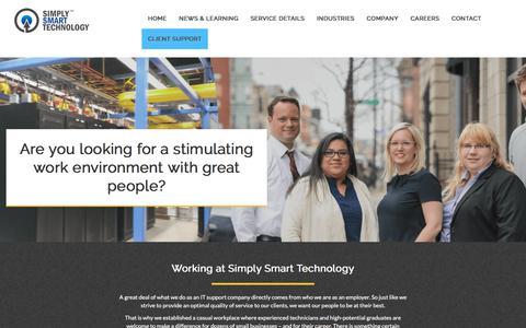 Screenshot of Jobs Page simplysmarttech.com - Careers, Simply Smart Technology - captured Nov. 5, 2017