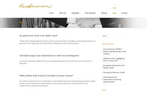 Screenshot of Blog vierduinen.nl - Vierduinen Hospitality Management Blog Archives - Vierduinen Hospitality Management - captured Oct. 7, 2014