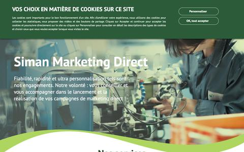 Screenshot of Home Page siman-france.com - Siman : Votre spécialiste Marketing Direct - captured Dec. 17, 2018