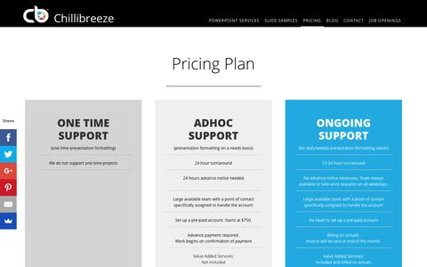 Screenshot of Pricing Page chillibreeze.com - Pricing Plan - captured May 16, 2017