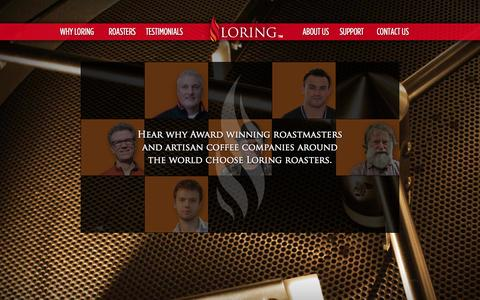 Screenshot of Testimonials Page loring.com - Testimonials | Loring Smart Roast - captured Oct. 3, 2014