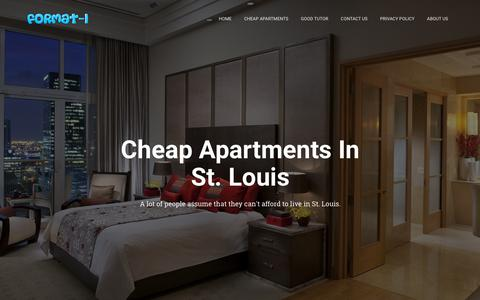 Screenshot of Home Page format-i.net - Cheap Apartments In St. Louis - - captured Oct. 23, 2018