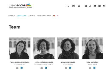 Screenshot of Team Page lisboaenova.org - Team – Lisboa E-Nova – Agência de Energia-Ambiente de Lisboa - captured Dec. 8, 2018