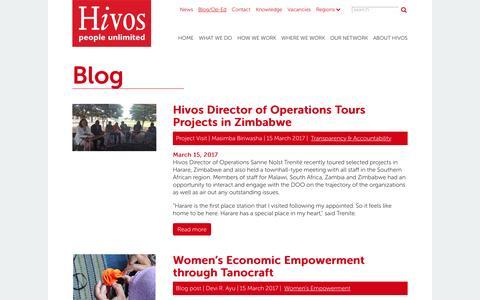 Screenshot of Blog hivos.org - Blog   Hivos International - captured March 17, 2017
