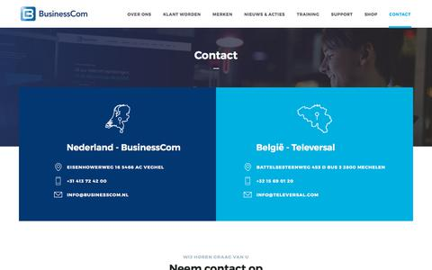 Screenshot of Contact Page televersal.com - BusinessCom | Televersal - Contact - captured Oct. 21, 2017