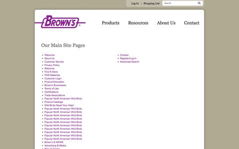 Screenshot of Site Map Page fmbrown.com - Sitemap | F.M. Brown's - captured Oct. 1, 2014