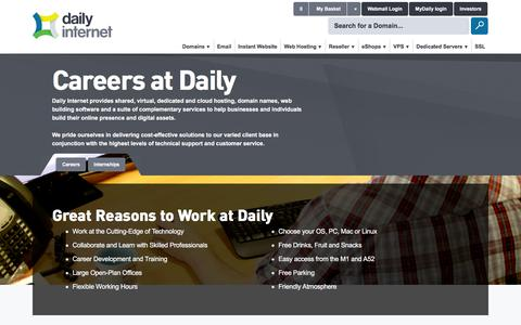 Screenshot of Jobs Page daily.co.uk - Daily.co.uk: Careers at Daily - captured Jan. 17, 2016