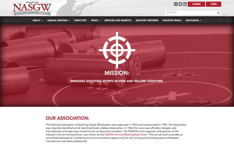 Screenshot of About Page nasgw.org - Our Association -  NASGW - captured Oct. 18, 2018