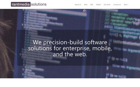 Screenshot of Services Page egrove.co.uk - Rantmedia Solutions   Bespoke software development in Cardiff - captured Oct. 3, 2014