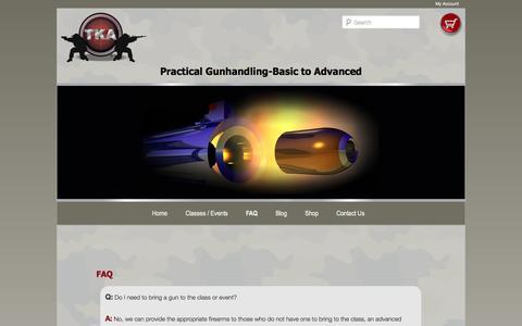 Screenshot of FAQ Page tkallc.com - FAQ | TKA - captured Oct. 9, 2014