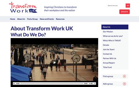 Screenshot of About Page transformworkuk.org - Financial Giving - captured Sept. 21, 2018