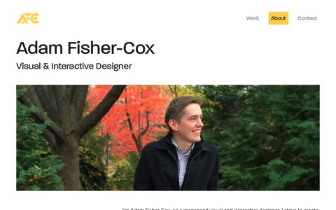 About     Adam Fisher-Cox