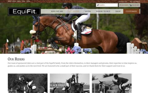 Screenshot of Team Page equifit.net - Our Riders - EquiFit, Inc. - captured Dec. 21, 2016