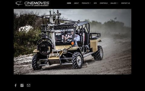 Screenshot of Home Page cinemoves.com - Cinemoves | - captured Jan. 23, 2016