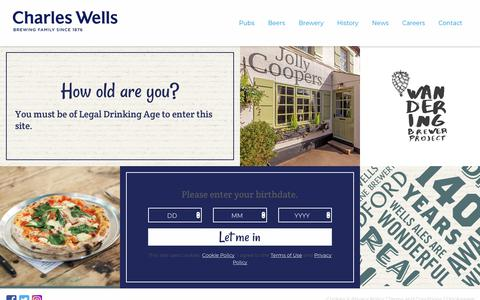 Screenshot of Terms Page charleswellsltd.co.uk - Terms & Conditions - Charles Wells - captured Sept. 24, 2018