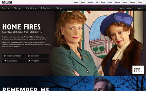 Screenshot of Home Page bbcaustralia.com - Home | Show Highlights | BBC Worldwide Australia - captured Oct. 1, 2015