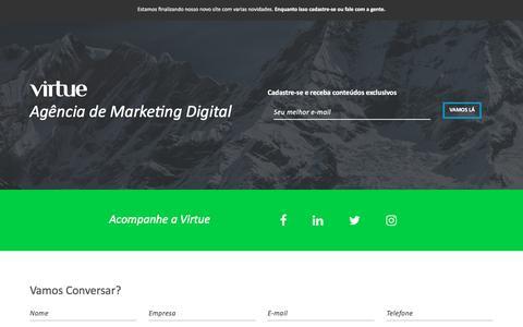 Screenshot of Home Page agenciavirtue.com.br - Marketing Digital de Resultados - captured March 8, 2017