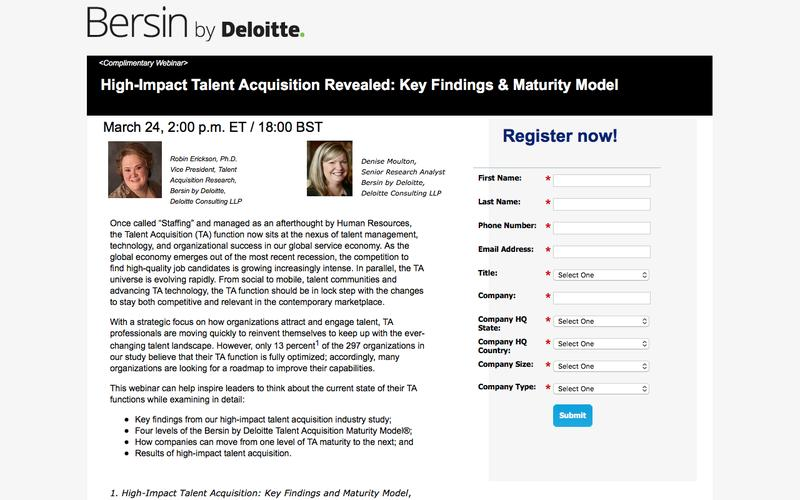 High-Impact Talent Acquisition Revealed: Key Findings & Maturity Model