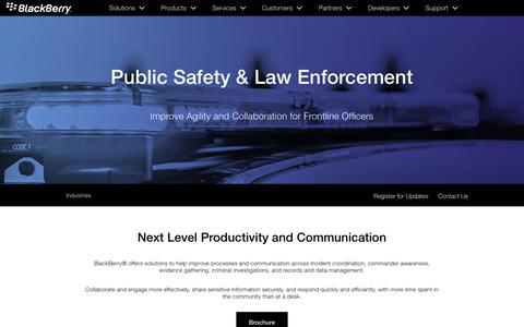 Public Safety & Law Enforcement – Secure Mobility Solutions from BlackBerry - United States