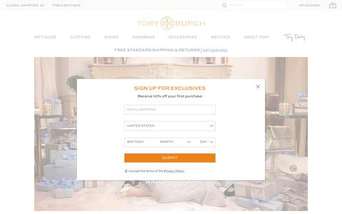 Screenshot of Home Page toryburch.eu - Tory Burch | Women's Clothing, Dresses, Shoes, Handbags & Accessories - captured Nov. 24, 2016
