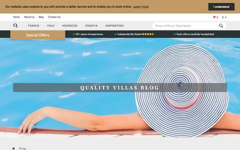 Screenshot of Blog qualityvillas.com - Quality Villas   Blog - captured Sept. 22, 2018