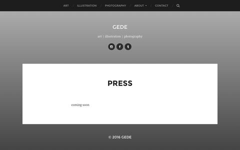 Screenshot of Press Page gede.com.au - press – gede - captured Oct. 28, 2016
