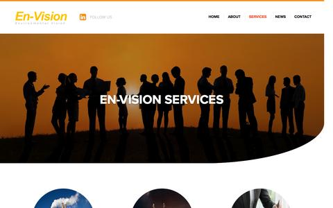 Screenshot of Services Page en-visionuk.com - En-Vision Services - En-Vision - captured Nov. 8, 2016