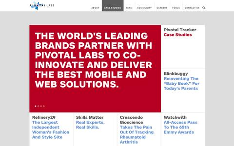 Screenshot of Case Studies Page pivotallabs.com - Case Studies - Pivotal Labs - captured Sept. 19, 2014